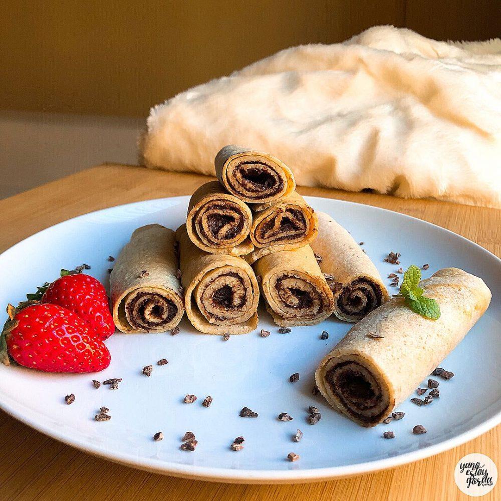 Crepes de avena con nutella saludable