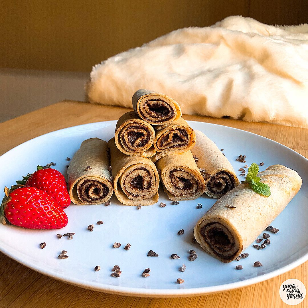Crepes de avena con nutella saludable