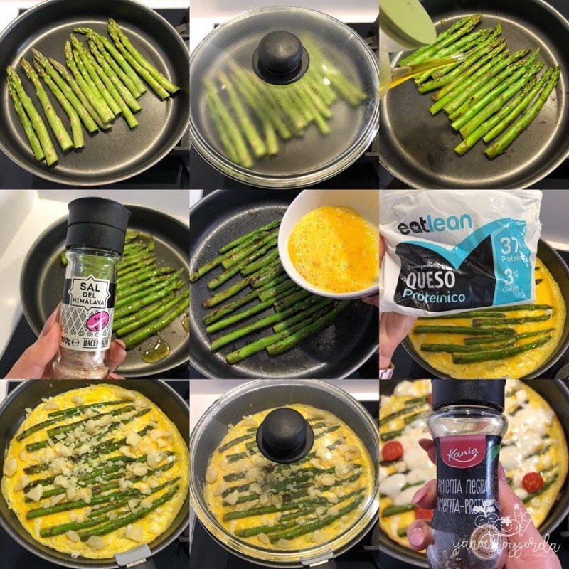 Tortilla al plato de trigueros y queso