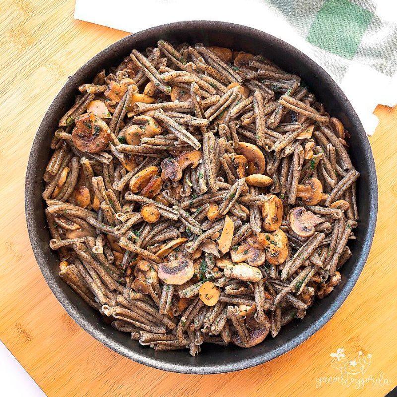 Casarecce de legumbres con champiñones