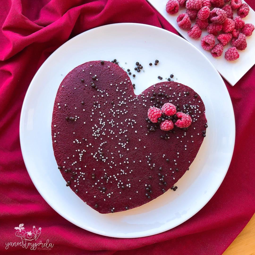 Cheesecake de San Valentin sin horno