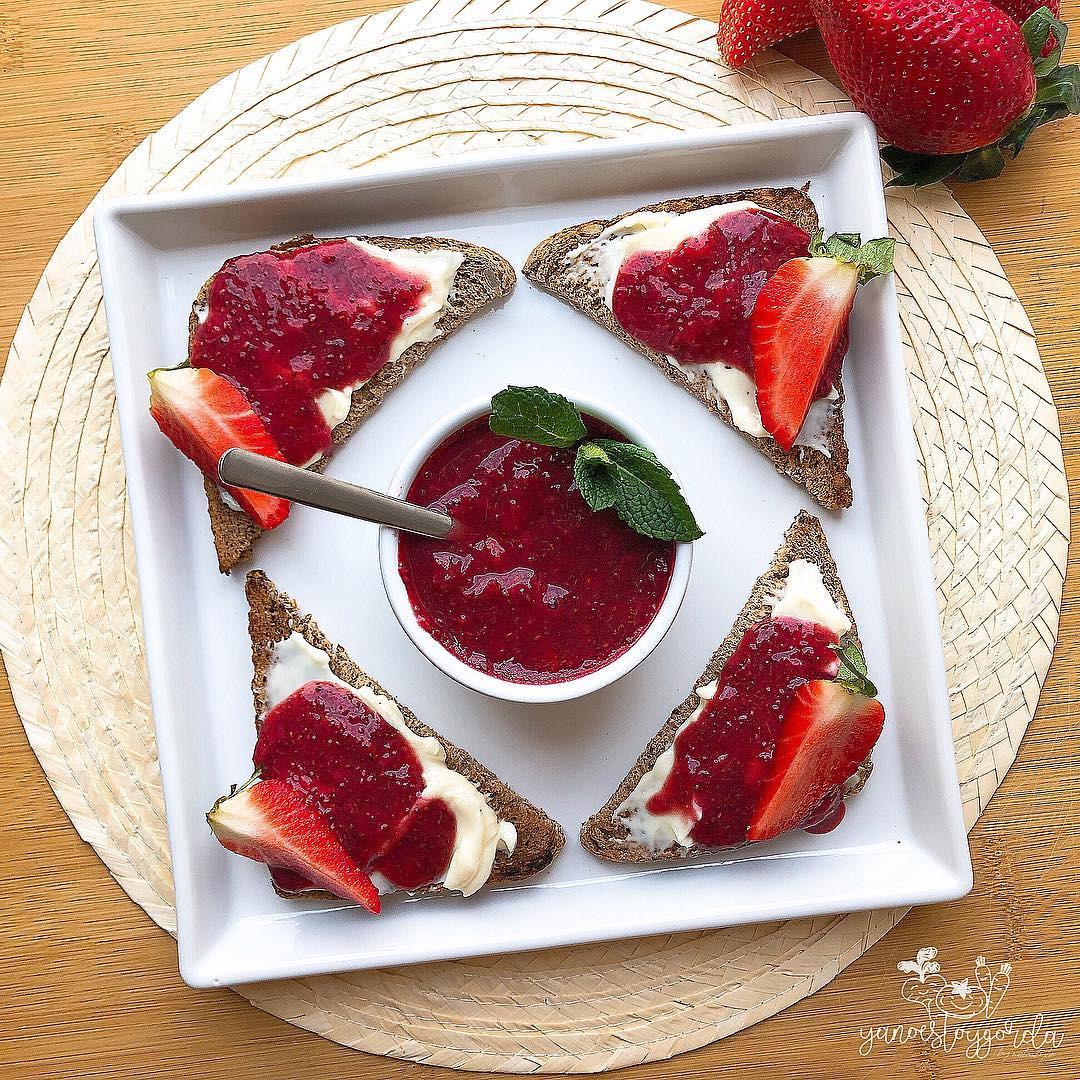Mermelada de fresa sin azúcar