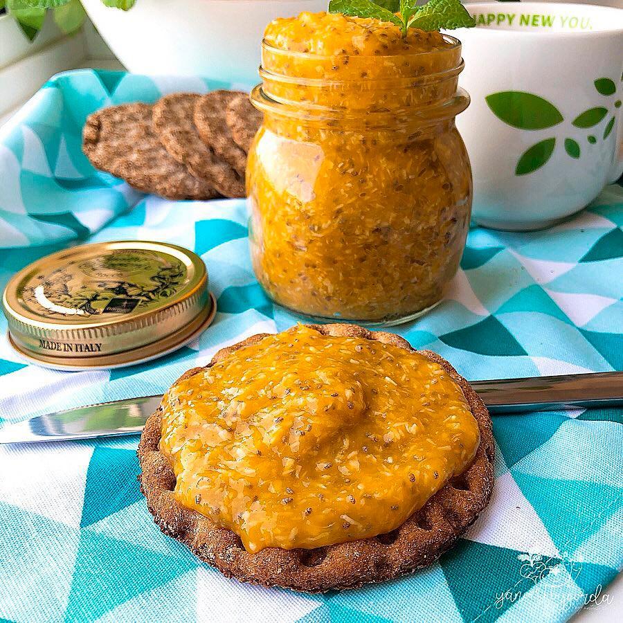 Mermelada de mango y coco sin azúcar