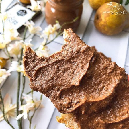 Mermelada de peras con chocolate