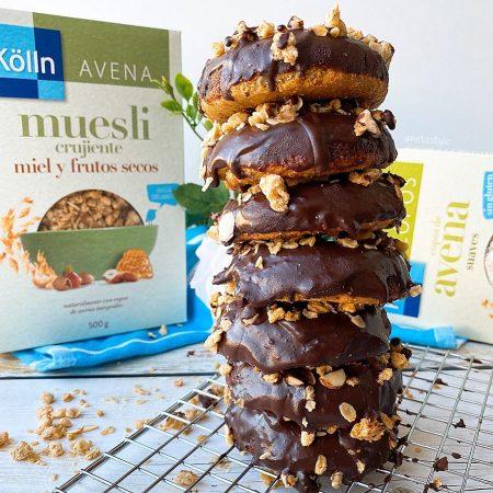 MINI DONUTS DE AVENA Y CHOCOLATE