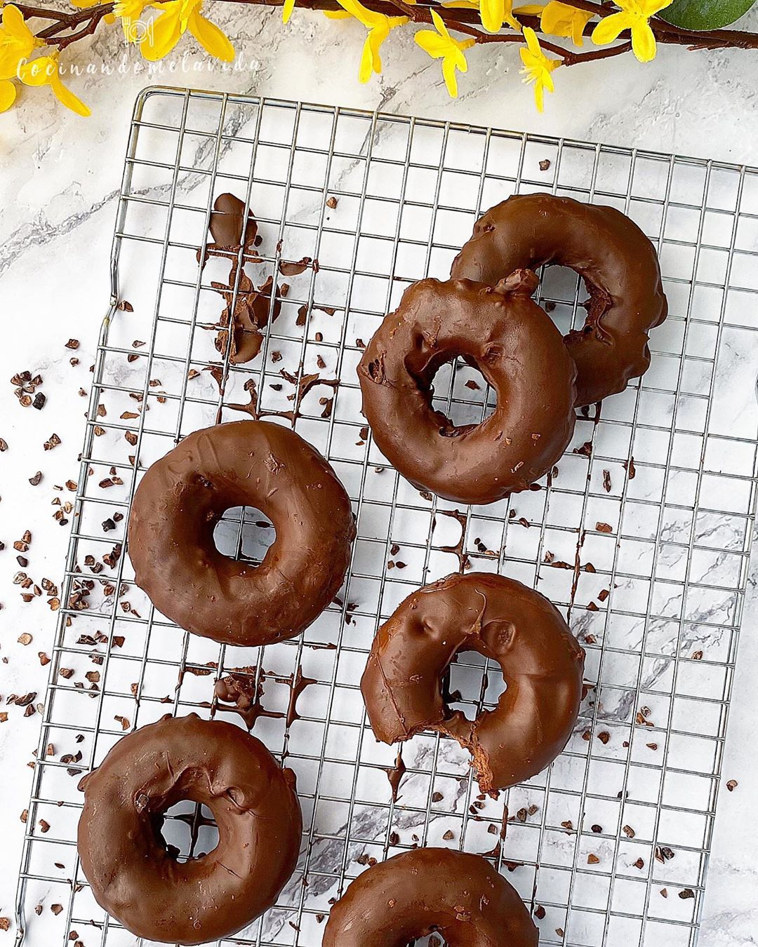 DONUTS SALUDABLES DE CHOCOLATE
