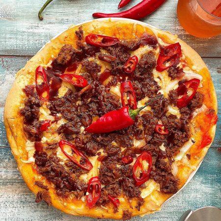 PIZZA DE PULLED PORK