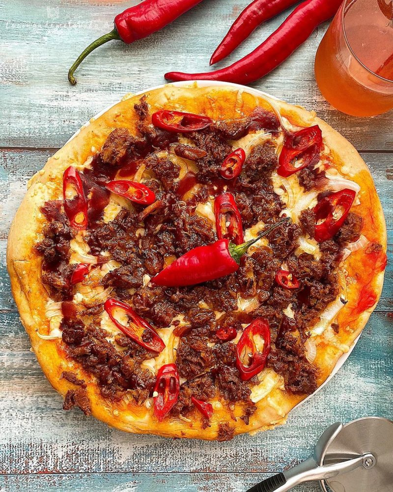 PIZZA DE PULLED PORK